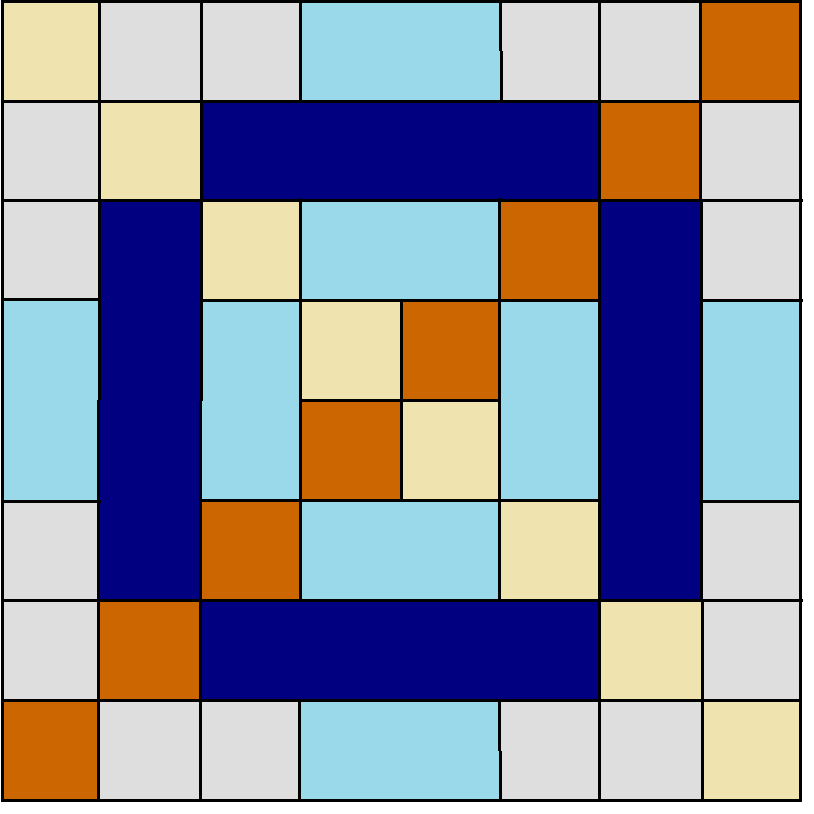 Cross stitch lattice Block