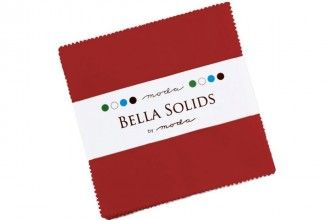 Moda Bella Solids Charm Pack - Red  MCS9900 16