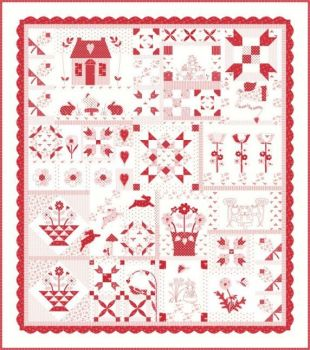 SALE!! My Redwork Garden Quilt Kit By Bunny Hill Designs for Moda