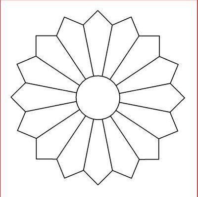 Dresden Plate Block Pattern