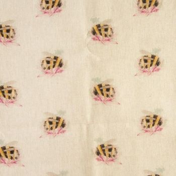 Bumble bee Linen Fabric