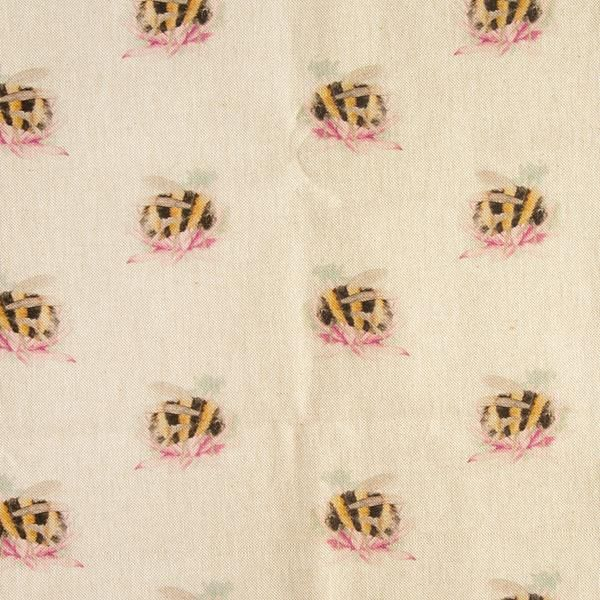 Bumble bee Linen Fabric