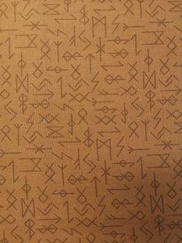 Lewis and Irene Viking Adventure - Runes on ochre