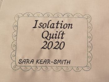 Isolation Quilt 2020 Label