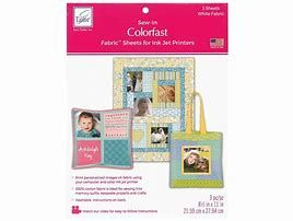 Sew In Colourfast Cotton Fabric Sheets - 3 Pack