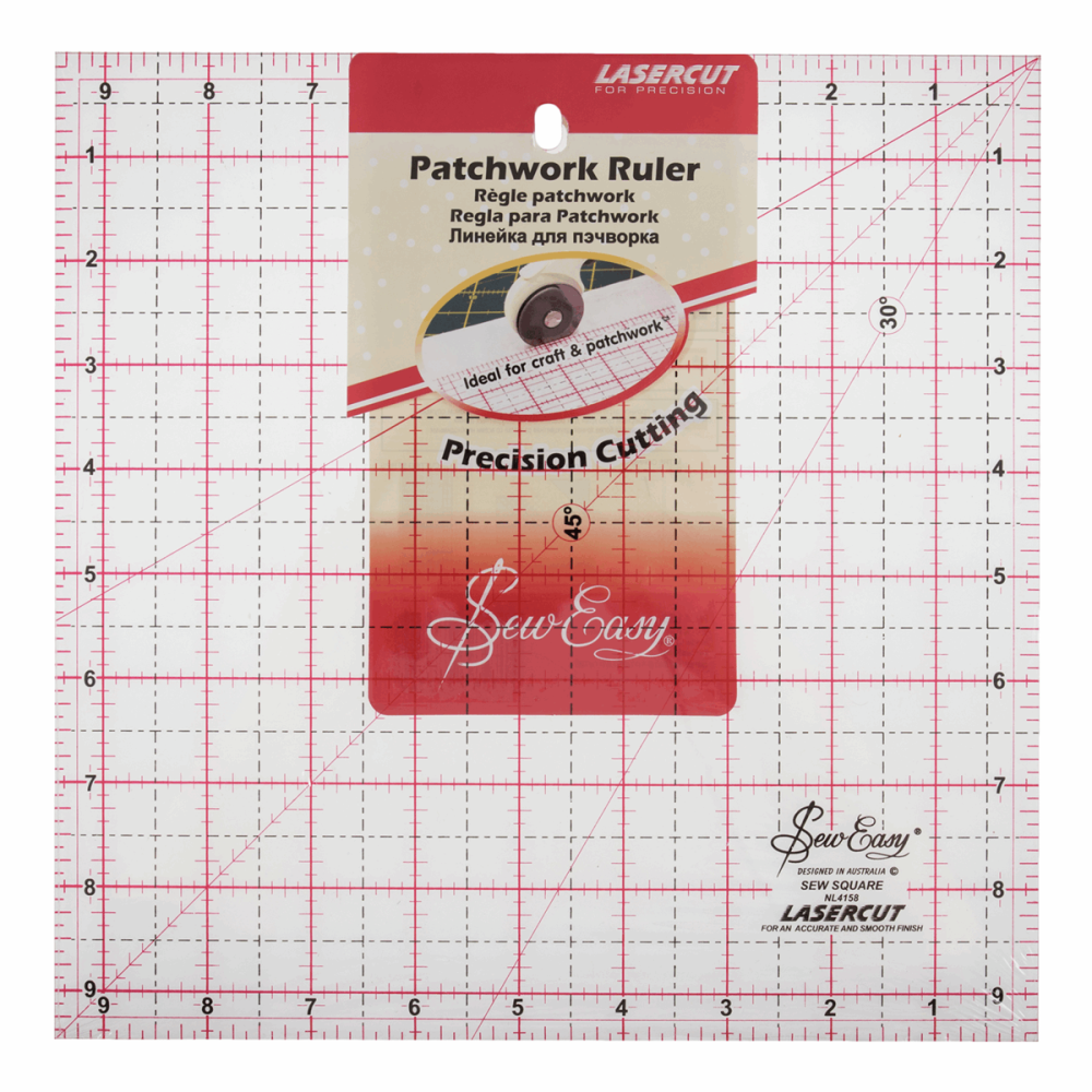 Patchwork Ruler: Square: 9.5 x 9.5in