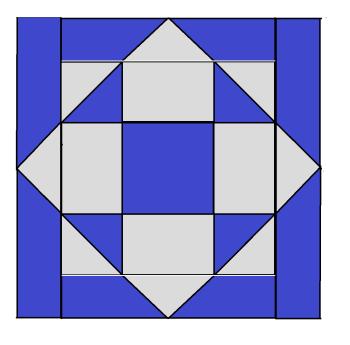 Chubby Star Block Pattern
