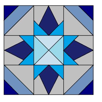 Evening Star Block Pattern