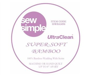 Sew Simple Super Soft Wadding  100% Bamboo
