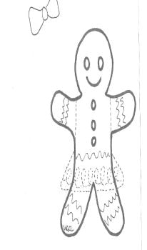 Gingerbread Person Template