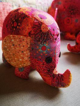 A trio of Elephants - Pink!