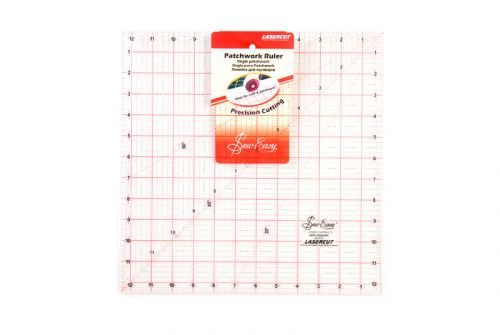 Sew Easy - Lasercut - Patchwork ruler - 12.5 inch x 12.5inch