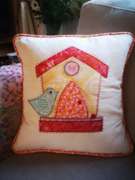 Birdhouse Cushion Pattern & Template - digital download only