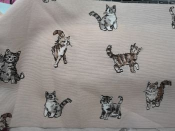 Kittens on Pale Pink background - 100% cotton