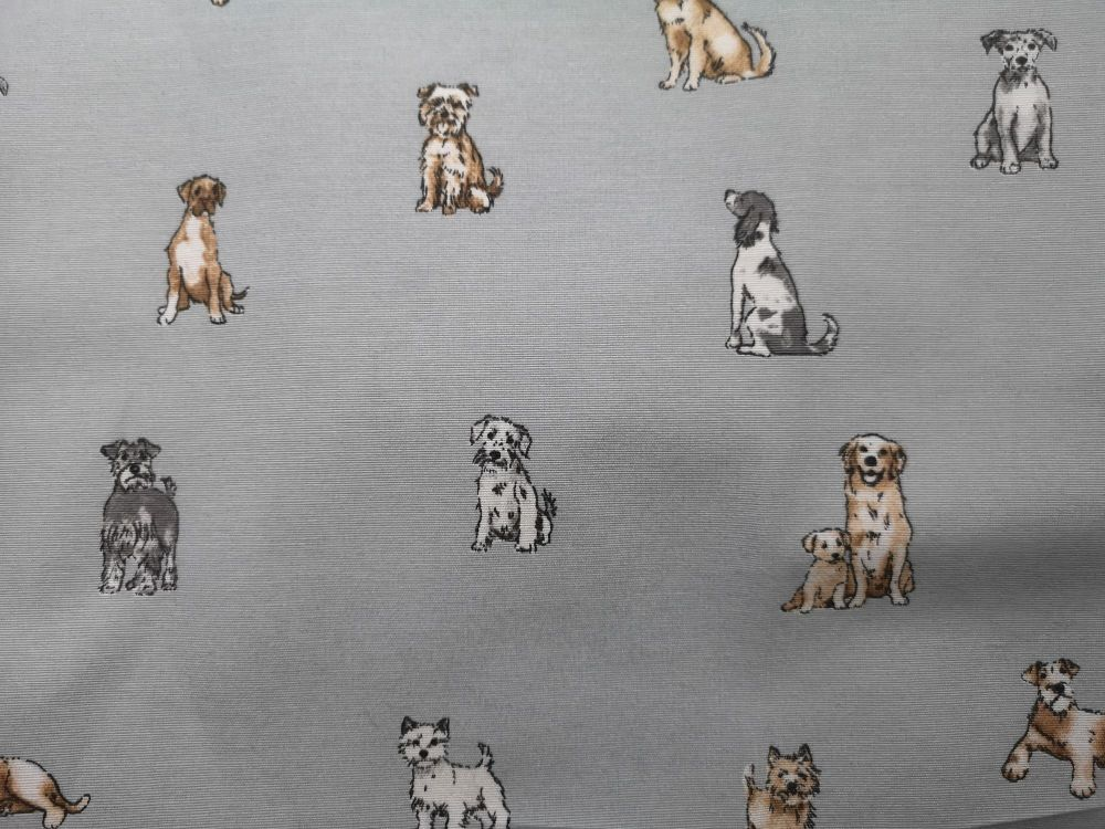 Puppies on a Blue background - 100% cotton