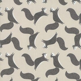 Bramble by Moda - Grey Squirrels on taupe 4828314