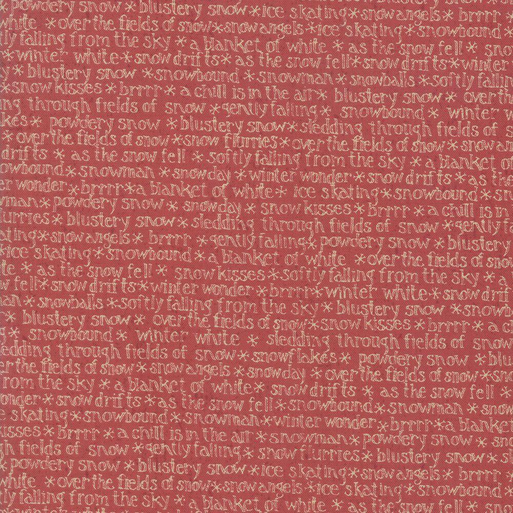 Snowbound by Kathy Shmitz for Moda red script