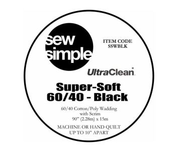 Sew Simple - UltraClean Super Soft 60/40 - Black