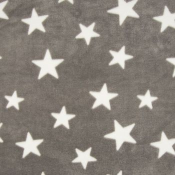Fleece Jacquard Print Star Taupe
