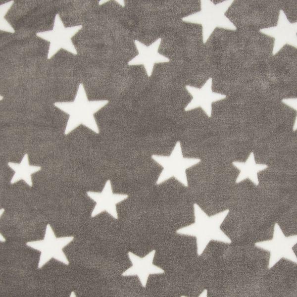 Fleece Jacquard Print Star Taupe
