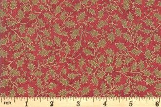 Moda Poinsettas & Pine - crimson 33515 12