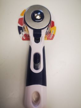 45mm Rotary Cutter with Cushion Grip Handle - Navy