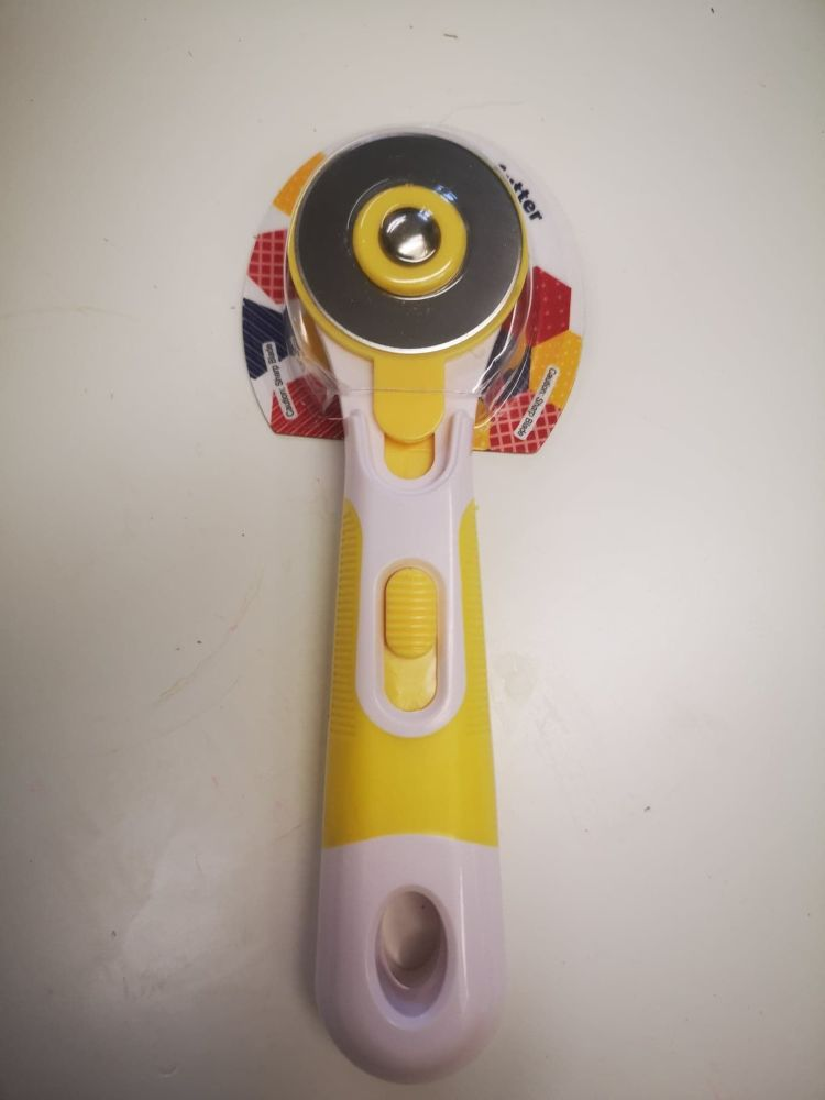 45mm Rotary Cutter with Cushion Grip Handle yellow