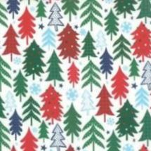 Moda - Jolly Season by Abi Hall  - Christmas Trees on White