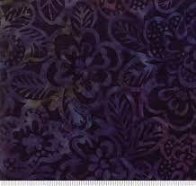 Moda - Parfait Batiks - Jewel 4351 35 dark navy/faded rainbow flower