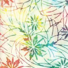 Moda - Parfait Batiks - Jewel 4351 11 pastel rainbow/flowers/stems