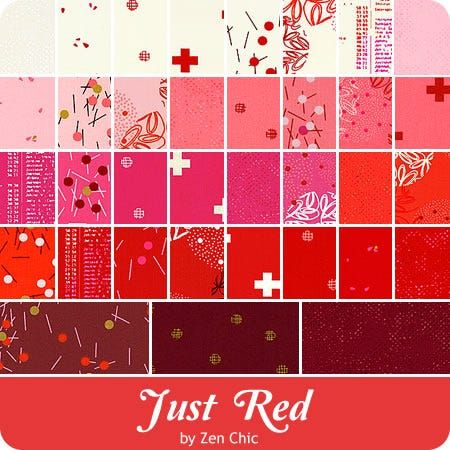 Just Red by Zen Chic - Moda Jelly Roll