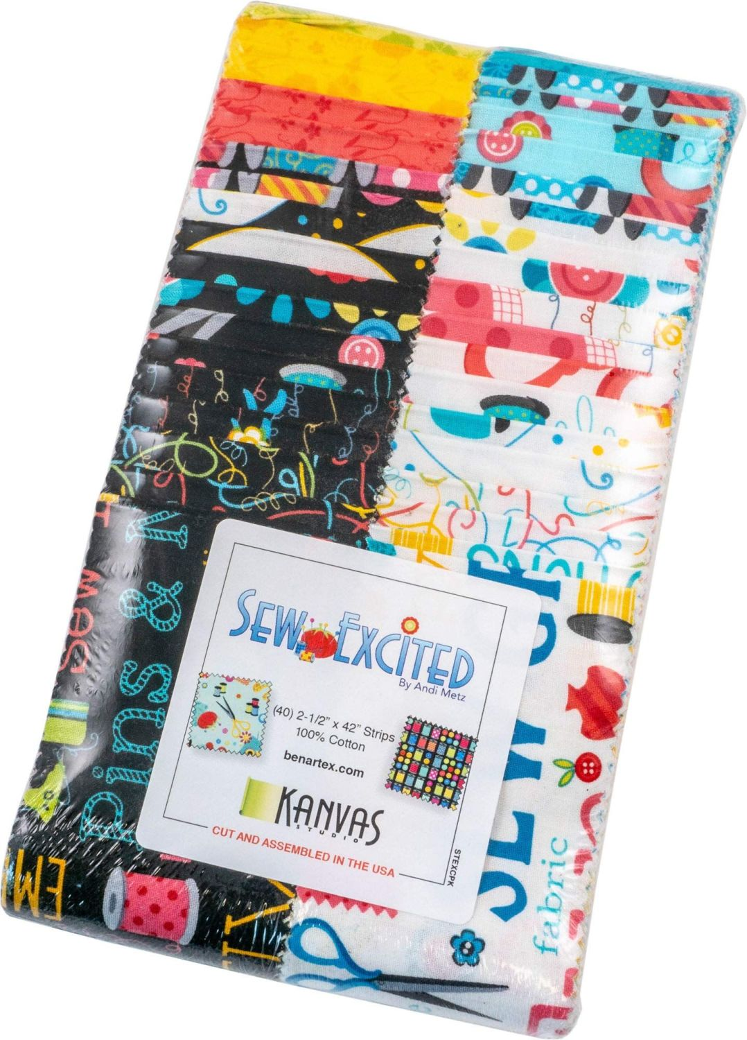 Sew Excited - Benartex (Sewing related images)