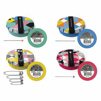Pin Tins - Steel Dressmaking pins