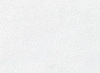 Moda Muslin Mates white on white French swirl 9937 11
