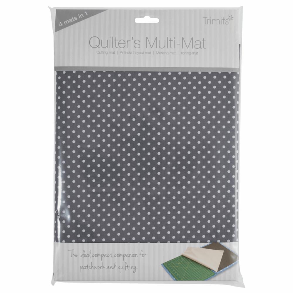 Quilters Multi-Mat: A4 (30 x 24cm): Grey spot