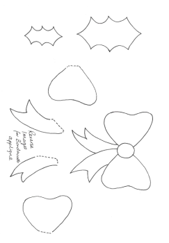 Christmas Wreath block templates - Digital Download