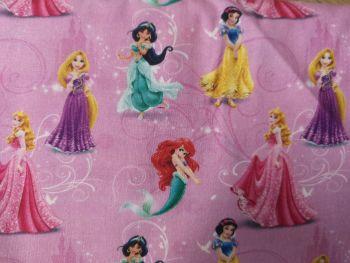 Disney Princess on pink background