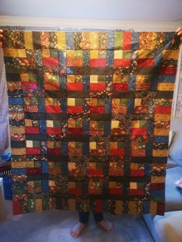 'The Half Log Cabin' Quilt Pattern - Paper copy