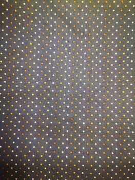 """Makower Poppy Seed Pattern Navy with white/cream & brown small spots - Job lot 1m 5cm x 42"""" wide"""