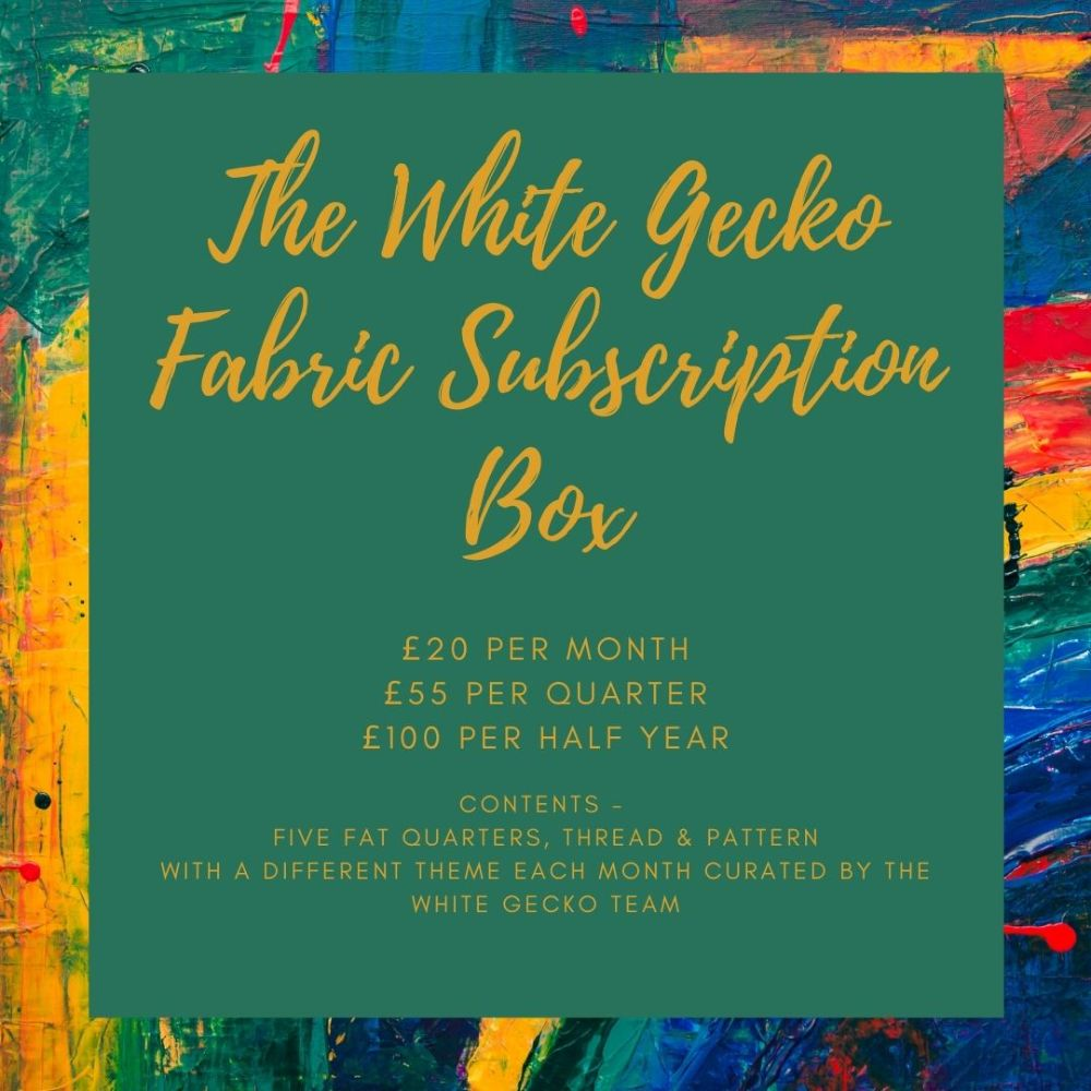 White Gecko Fabric Subscription Box