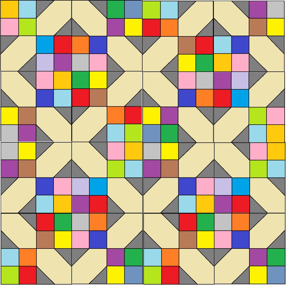 'Scrappy Happy 4 Patch' Quilt Pattern - digital download
