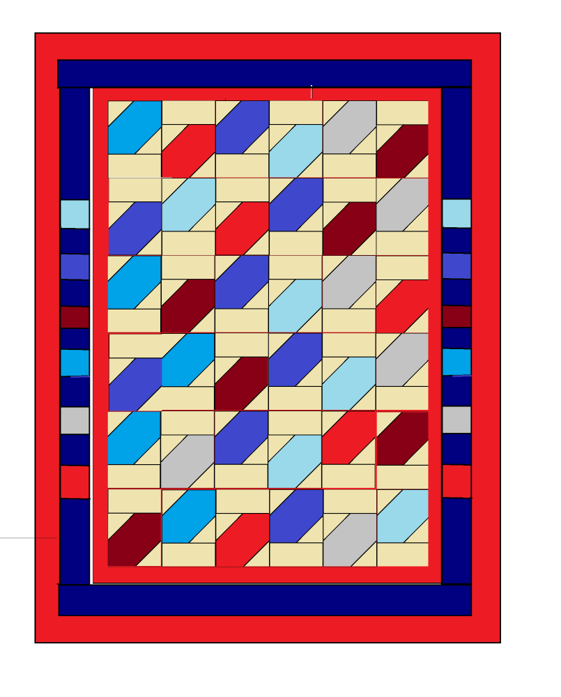 'Tumbling Leaves' Quilt Pattern - digital downloads