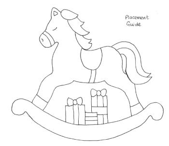 Christmas Rocking Horse Applique Templates - Digital Download