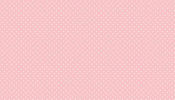 Makower Spots - P2 Baby Pink with white spots