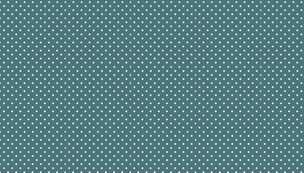 Makower Spots - T7 Dark Teal with white spots