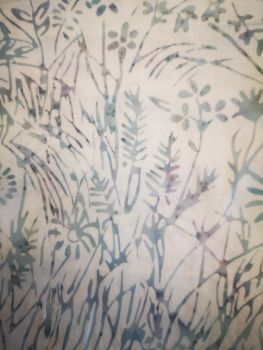Island Batik 121934730-6/295 White with pale blue & mauve floral