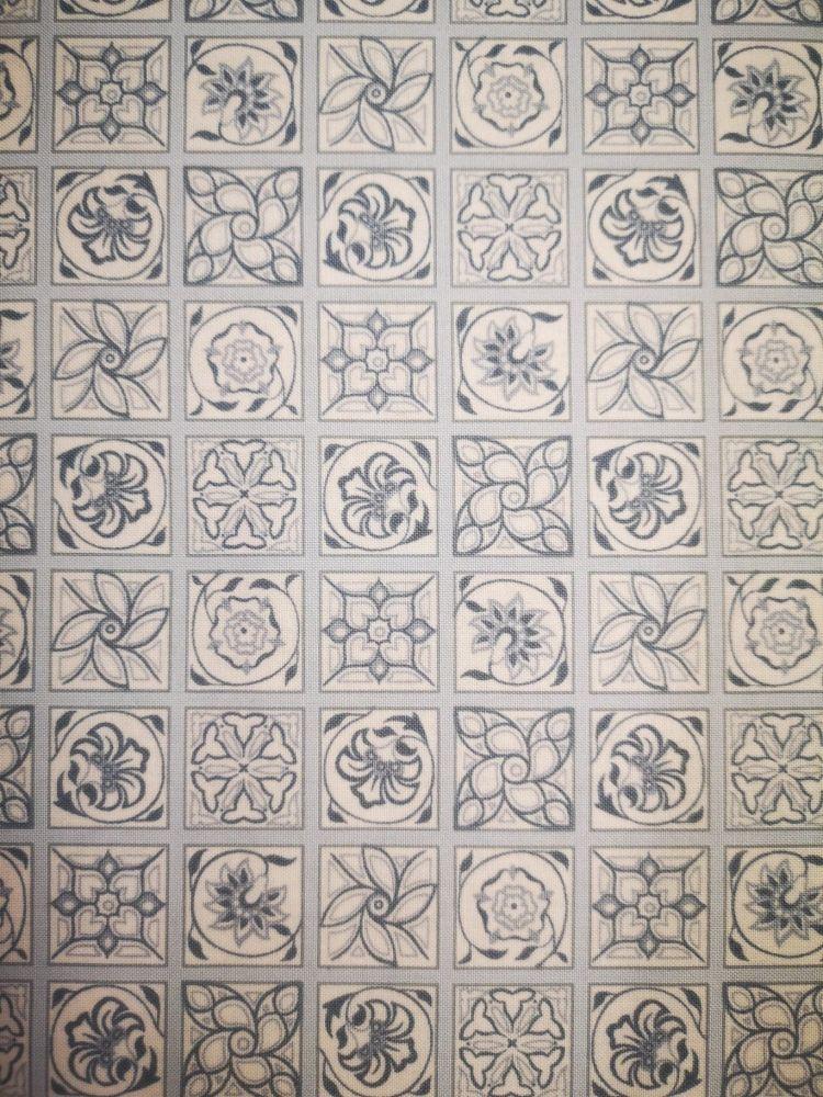 Liberty Emporium Collection Monochrome - Argyll Tile 909C