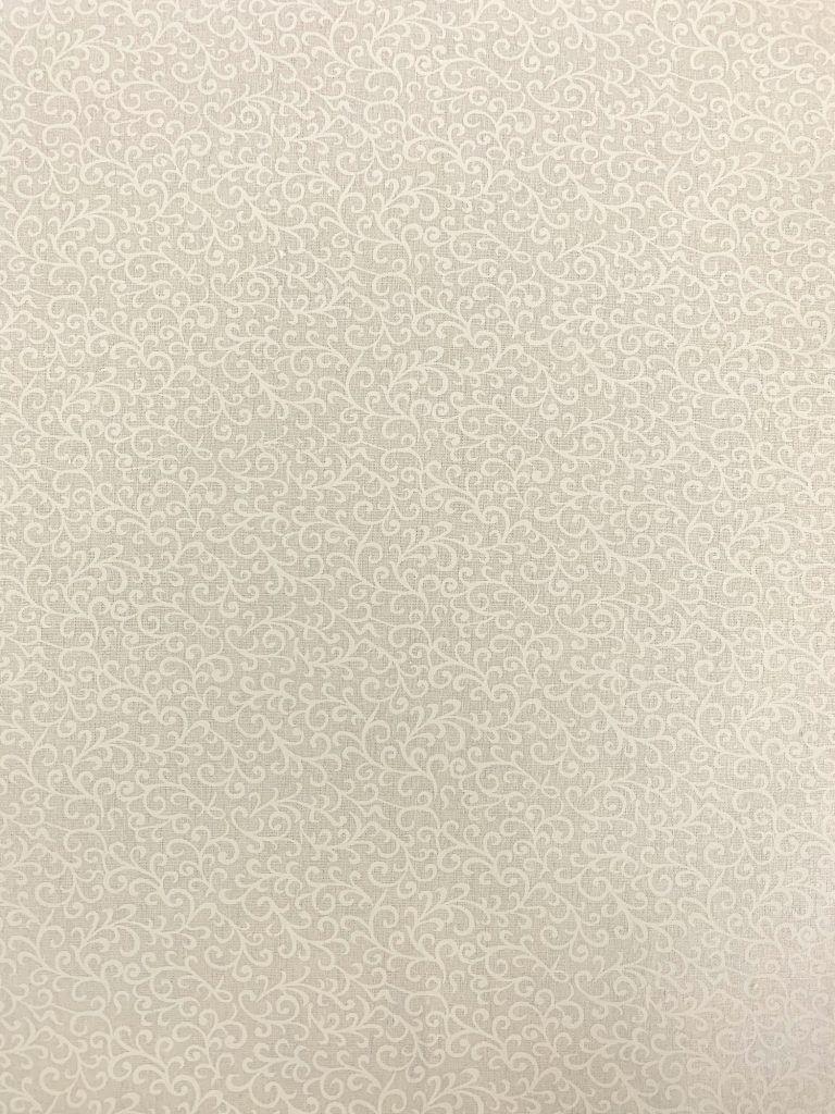 Essentials Scroll White on White - Craft Cotton Company