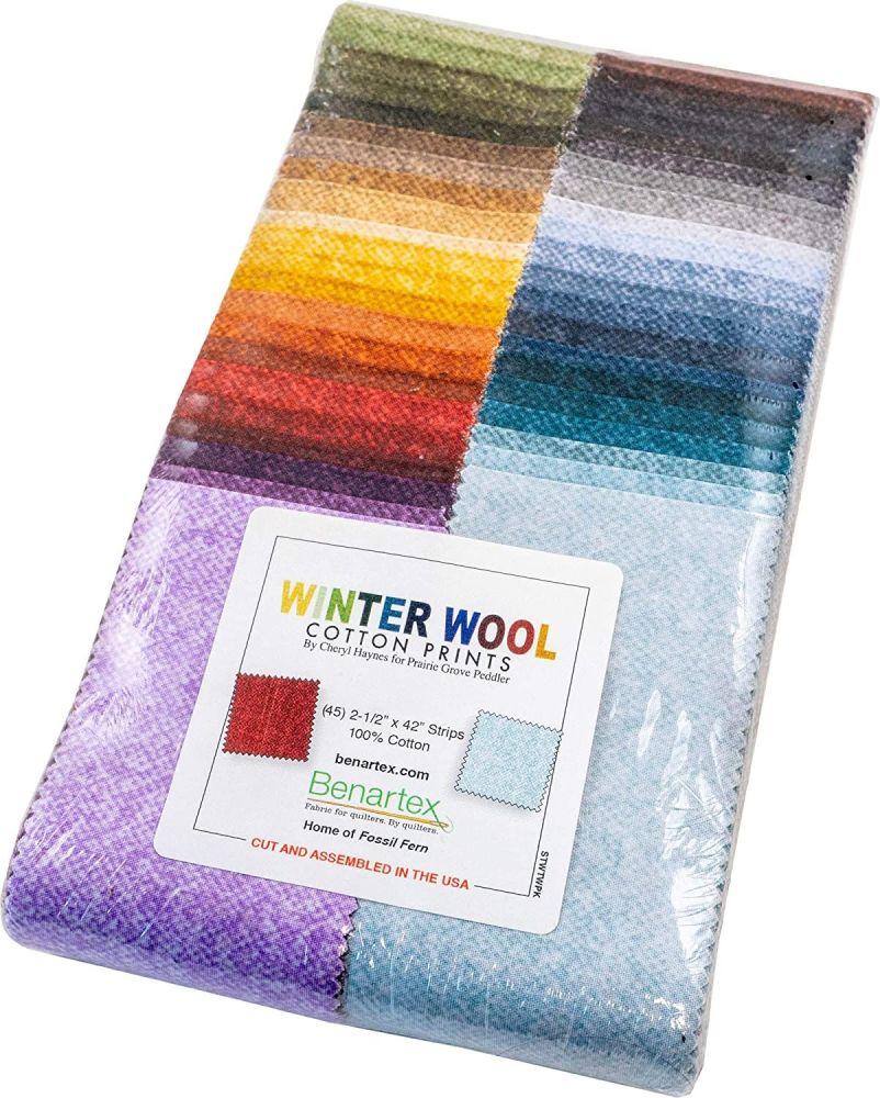 Benartex - Winter Wool Cotton Prints- Jelly Roll