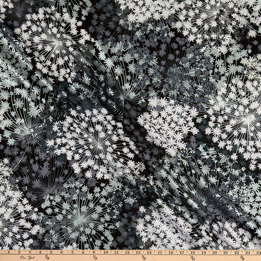 Midnight Pearl - 7880P 12 Black/white/grey flower head